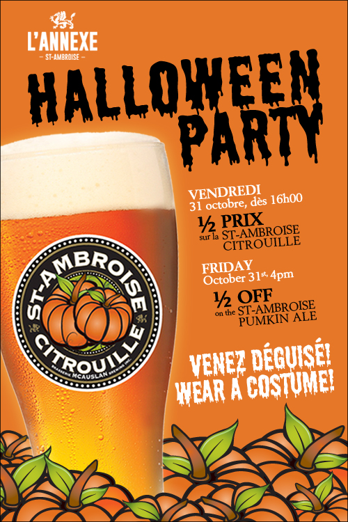 Halloween Party at the Annexe St-Ambroise Pub