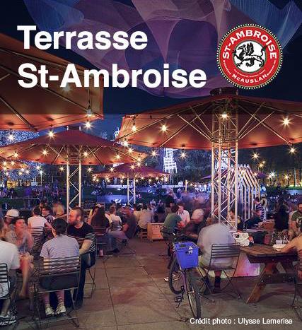 Une Terrasse St-Ambroise aux Jardins Gamelin les 17-18-19 juillet