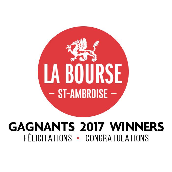 Gagnants de la Bourse St-Ambroise 2017