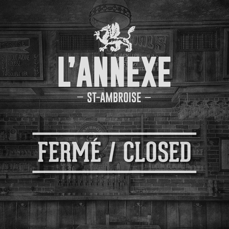 Taproom and tours :: L'Annexe St-Ambroise :: Closed until further notice