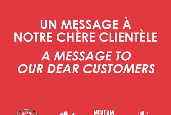 A message to our dear customers